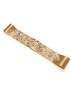 Charmeuse Sash with Delicate Beading