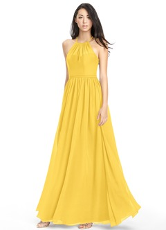 Marigold yellow bridesmaid dress