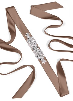 Satin Sash with Butterfly Beading