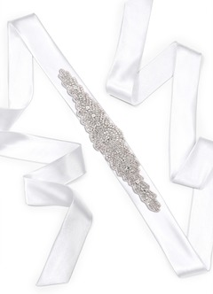 Charmeuse Sash with Deco Beading